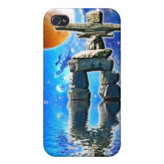 INUIT INUKSHUK u. GALAXIE Fantasie iPhone 4 Fall iPhone 4/4S Case