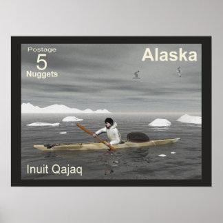 Inuit-Kajak - Alaska-Porto Poster
