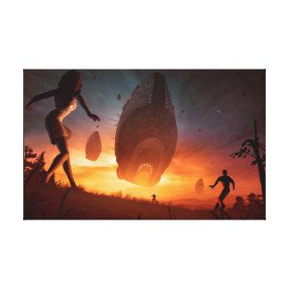 Invasion - Leinwand-Kunst-Druck Leinwanddruck