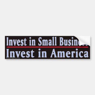 Investieren Sie im Kleinbetrieb Autoaufkleber