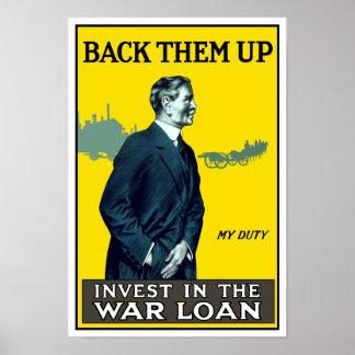 Investieren Sie im Kriegs-Darlehen - WWI Poster