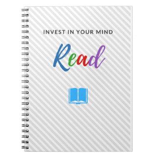 Investieren Sie in Ihrem Verstand - Notizbuch Notizblock