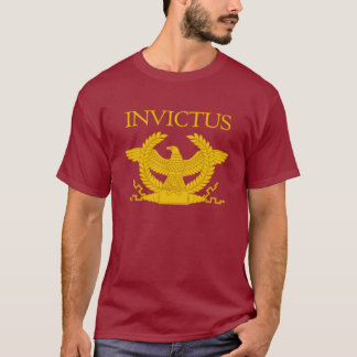 Invictus gravierte den T - Shirt der Männer
