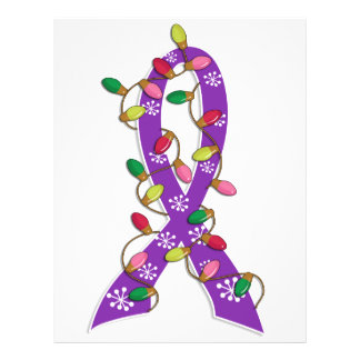 Invisible Illness Christmas Lights Ribbon Full Color Flyer