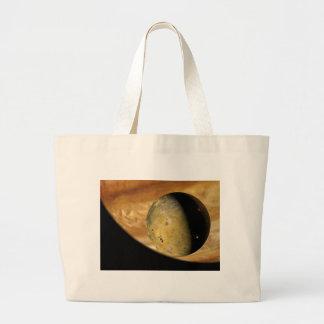 Io und Jupiter Jumbo Stoffbeutel