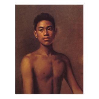 """""""Iokepa, hawaiischer Fisher-Jungen-"""" - Postkarte"""
