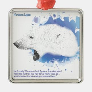 Iorek, gepanzerter Bär von seinen dunklen Silbernes Ornament