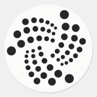 Iota-Aufkleber 2 Runder Aufkleber