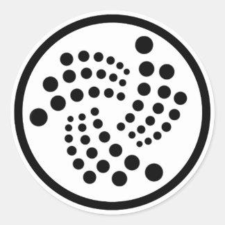 Iota-Aufkleber Runder Aufkleber