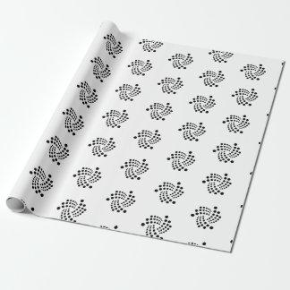 Iota-Packpapier (schwarzes Logo) Geschenkpapier