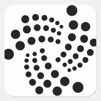 Iota Quadratischer Aufkleber