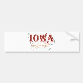 Iowa Autoaufkleber