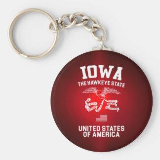 Iowa der Hawkeye Staat Schlüsselanhänger