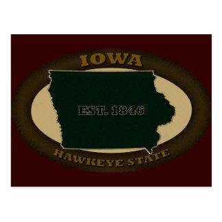 Iowa Est. 1846 Postkarte