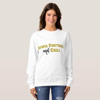 Iowa-Fußball und kühlen | GoldGlitzer-Spitze Sweatshirt