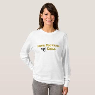 Iowa-Fußball und kühlen | GoldGlitzer-Spitze T-Shirt