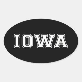 Iowa Ovaler Aufkleber