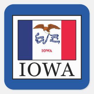 Iowa Quadratischer Aufkleber