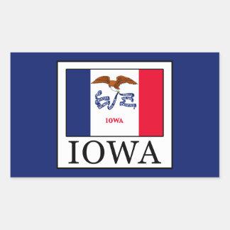 Iowa Rechteckiger Aufkleber