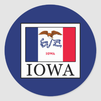 Iowa Runder Aufkleber