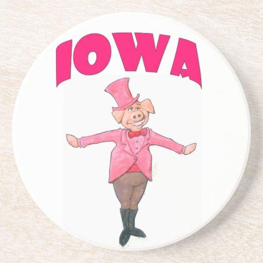 Iowa-Schwein Getränkeuntersetzer
