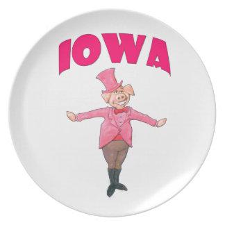 Iowa-Schwein Melaminteller