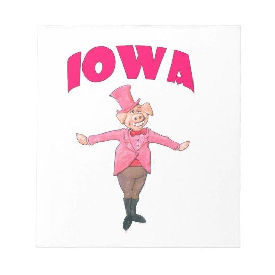 Iowa-Schwein Notizblock