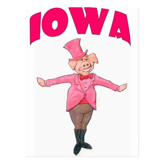Iowa-Schwein Postkarte