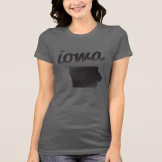 Iowa-Staat auf Grau T-Shirt