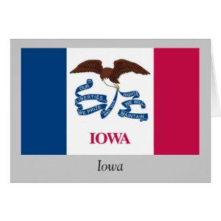 Iowa-Staats-Flagge Karte