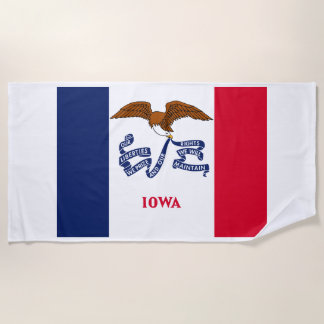 Iowa-Staats-Flagge Strandtuch