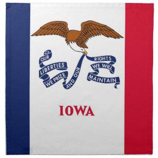 Iowa-Staats-Flaggen-Amerikaner MoJo Serviette