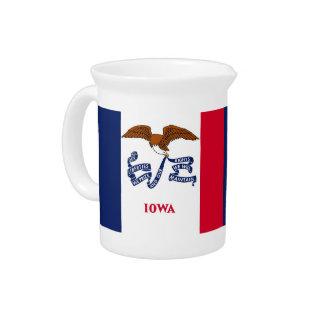 Iowa-Staats-Flaggen-Krug Getränke Pitcher