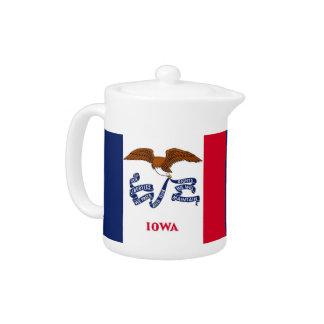 Iowa-Staats-Flaggen-Teekanne