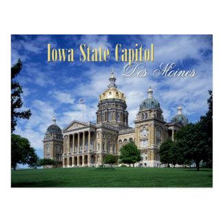 Iowa-Staats-Hauptstadt in Des Moines Postkarte