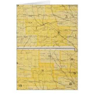 Iowa-Staats-Karten Karte