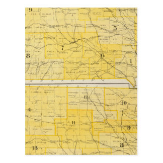 Iowa-Staats-Karten Postkarte