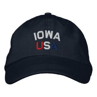 Iowa USA stickte Marine-Blau-Hut Bestickte Baseballmütze