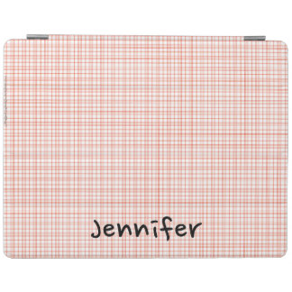 iPad 2/3/4 Abdeckungs-orange u. weißes kariertes iPad Hülle