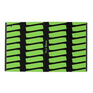 iPad 2/3/4 Fall-grünes Neonmuster auf Schwarzem Schutzhülle Fürs iPad