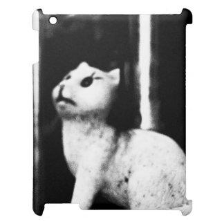 iPad Abdeckung mit Katzen-Statue iPad Hülle