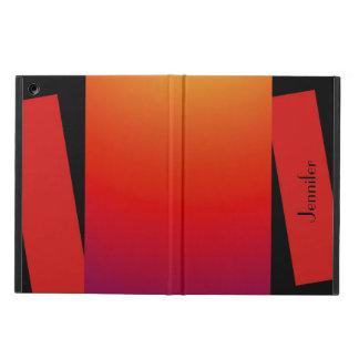iPad Air ケース, wilde Farben, rotes orange Gelb