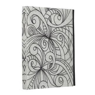 iPad Caseable Fall-Blumengekritzel-Zeichnen