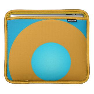 iPad Fall   grafisches Desing aquamarin und Gold Sleeve Für iPads