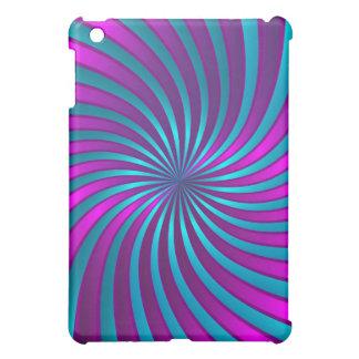 iPad Fallrosa und blaue gewundene Turbulenz