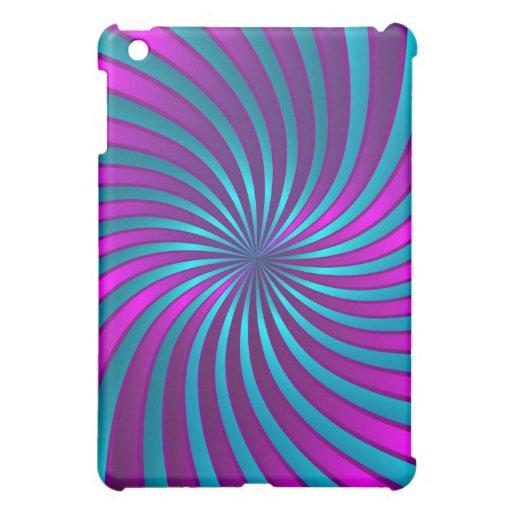 iPad Fallrosa und blaue gewundene Turbulenz Hülle Für iPad Mini