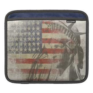 iPad Hülse mit Freiheitsstatuen amerikanische Flag Sleeve Für iPads