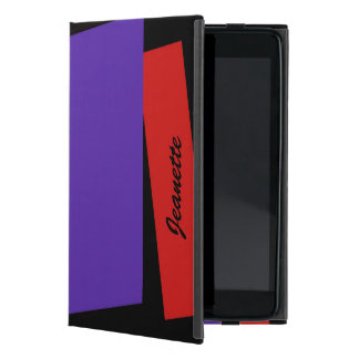 iPad Minifoliofall, dreifacher Streifen, rot u. iPad Mini Hülle