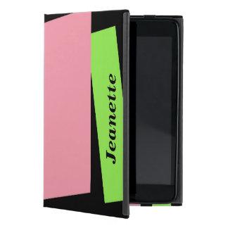 iPad Minifoliofall, Rosa und Neon-Grün iPad Mini Schutzhülle