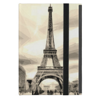 iPad MiniSchwarz-weißer Eiffel Turm Frankreich iPad Mini Etui